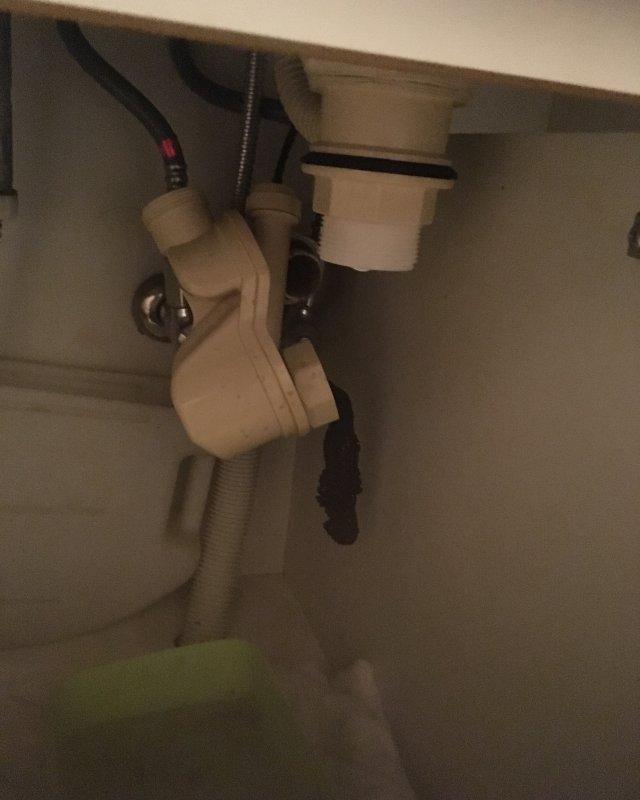 【水のトラブル】洗面所の詰まり除去作業③の画像