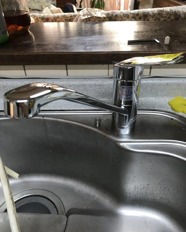 【水のトラブル】台所蛇口交換作業⑩の画像