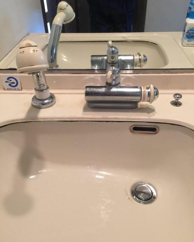 水のトラブル(洗面蛇口水漏れ①)の画像