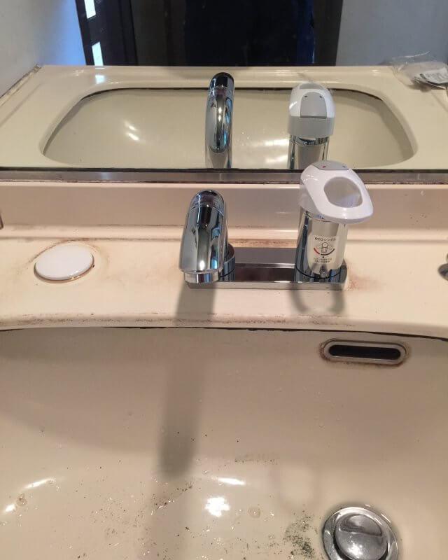 水のトラブル(洗面蛇口水漏れ④)の画像