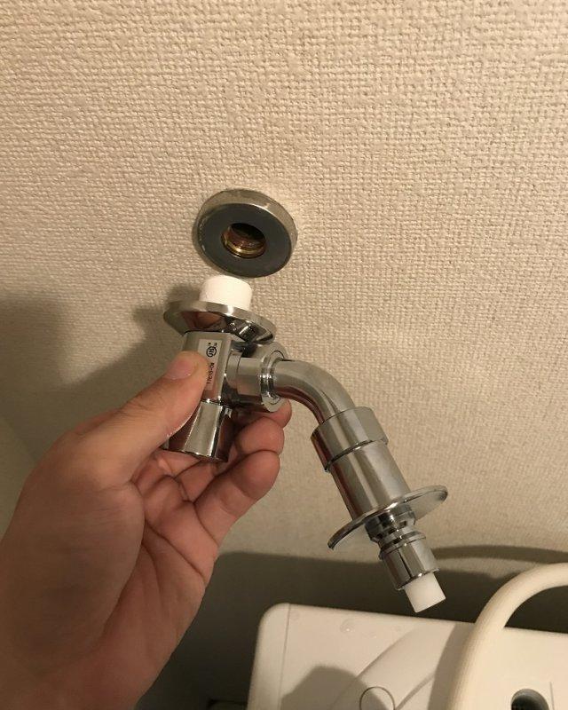 水のトラブル(洗濯場蛇口の水漏れ修理③:福岡)の画像