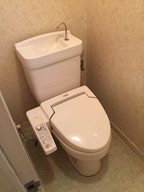 水のトラブル(トイレ水漏れ修理交換①)の画像
