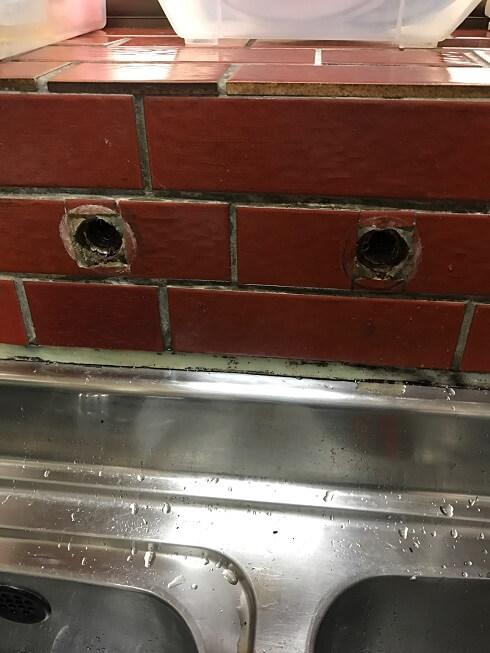 水のトラブル(台所蛇口水漏れ修理交換③)の画像