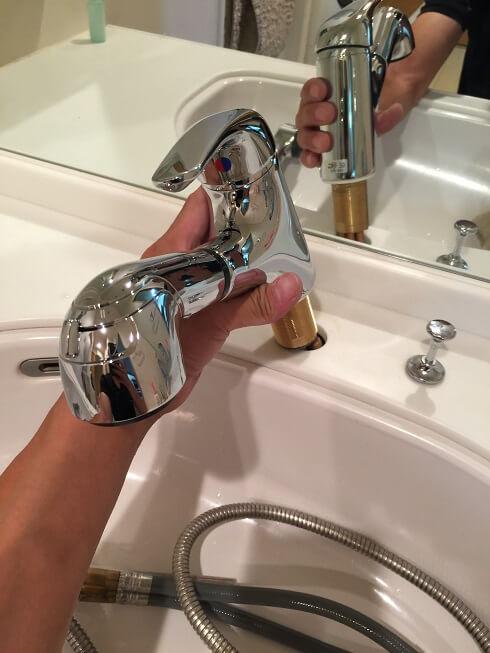 水のトラブル(洗面所蛇口水漏れ修理交換⑤)の画像