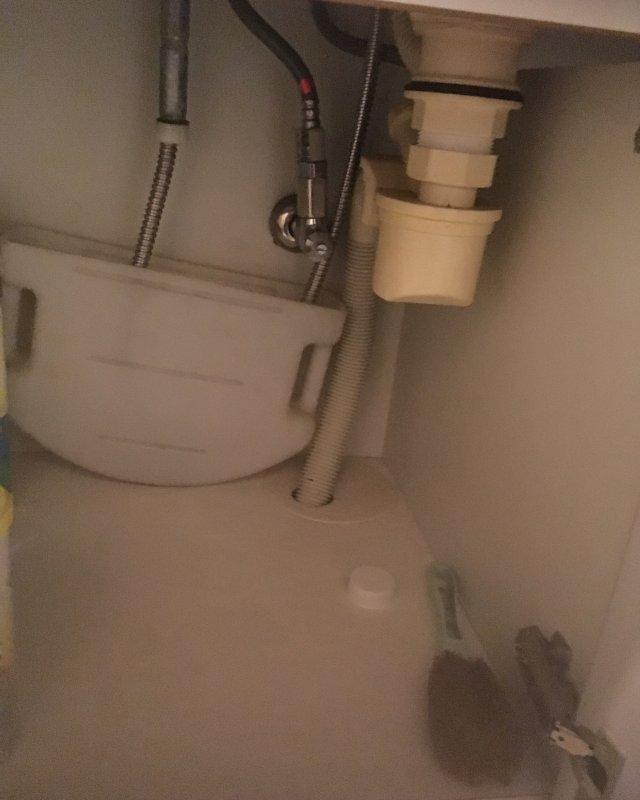 【水のトラブル】洗面所の詰まり除去作業②の画像