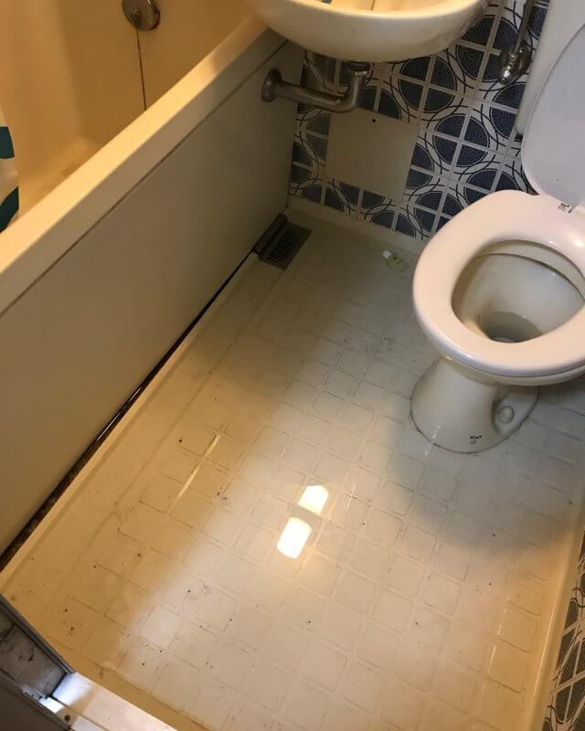 【水のトラブル】浴室詰まり修理作業①の画像
