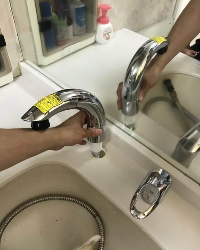 【水のトラブル】洗面所水漏れ交換作業④の画像
