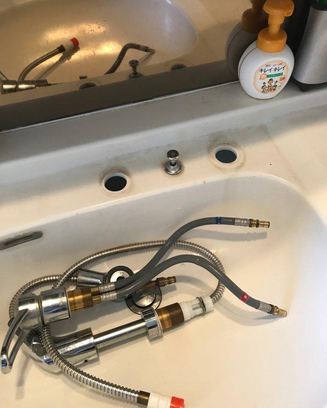【水のトラブル】洗面所水漏れ交換作業③の画像