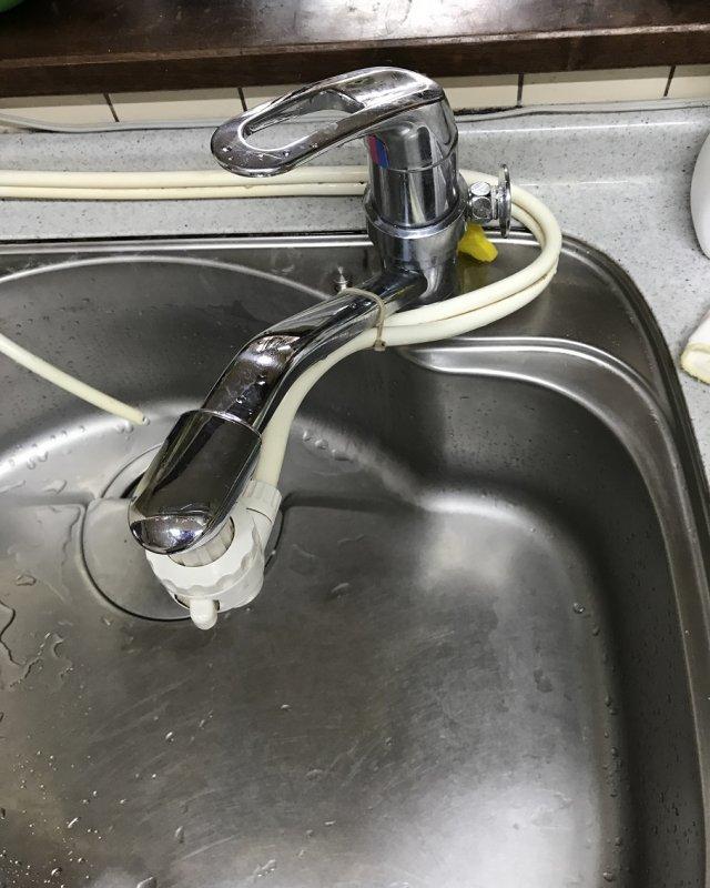【水のトラブル】台所蛇口交換作業①の画像