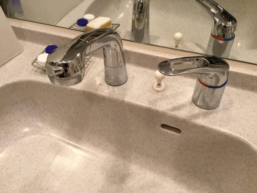 洗面台用混合栓 シャワーホースシングルレバータイプ 九州水道修理サービス
