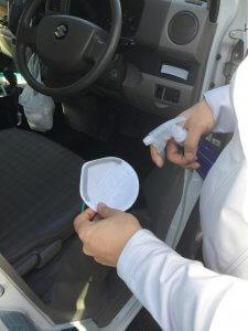 九州水道修理サービスの新型コロナウイルス対策 マスクの消毒
